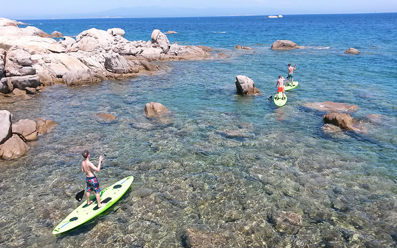 Kayaking and Sup amidst the granite cliffs of the North of Sardinia